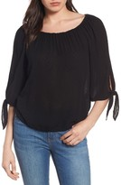 Velvet by Graham & Spencer Women's Split Sleeve Peasant Top