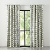 Crate & Barrel Maddox Khaki/Grey Curtains