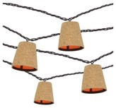 Threshold 10 count Decorative String Lights - Cone Cover in Cork