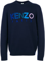 Kenzo embroidered logo sweatshirt - men - Wool - S