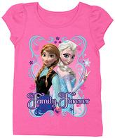 Freeze Frozen Hot Pink Anna & Elsa 'Family Forever' Tee - Toddler