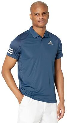 adidas Club 3-Stripes Polo (White/Black 2) Men's Clothing