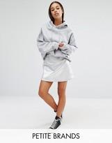 Boohoo Petite Metallic A Line Mini Skirt