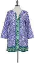 Robert Graham Purple Filigree Cotton Tunic