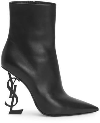 Saint Laurent Opyum Leather Booties