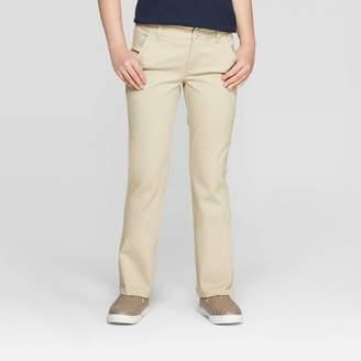 Cat & Jack Girls' Bootcut Twill Stretch Uniform Chino Pants - Cat & JackTM