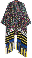 Missoni Fringed Hooded Cashmere-blend Wrap - Black