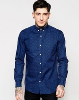 Lindbergh Shirt With All Over Print In Slim Fit