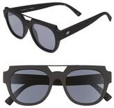 Le Specs Women's La Habana 52Mm Retro Sunglasses - Black Rubber