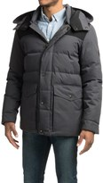 Cole Haan Mixed Media Hooded Down Jacket (For Men)