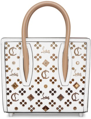 Christian Louboutin Paloma S Mini white leather tote bag