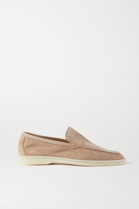 Loro Piana Summer Walk Suede Loafers - Beige