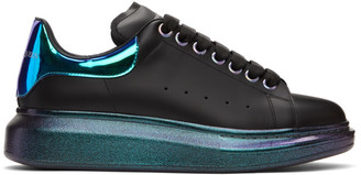 Alexander McQueen Black and Multicolor Oversized Sneakers