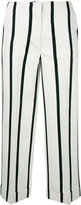 Twin-Set striped cropped trousers - women - Cotton/Polyester/Viscose - 44