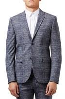Topman Skinny Fit Houndstooth Suit Jacket