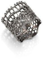 Aurelie Bidermann Vintage Lace Ring/Silvertone