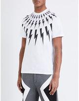 Neil Barrett Lightning Bolt Cotton-jersey T-shirt
