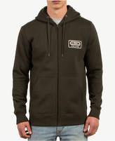Volcom Men's Shop Logo-Patch Full-Zip Hoodie
