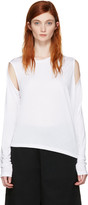 MM6 MAISON MARGIELA White Convertible T-shirt