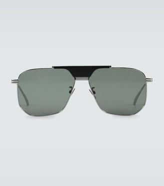 Bottega Veneta Metal frame aviator sunglasses