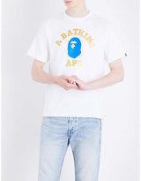 A Bathing Ape Glitter-print Cotton-jersey T-shirt
