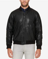 Andrew Marc Men's Faux Leather Bomber Jacket