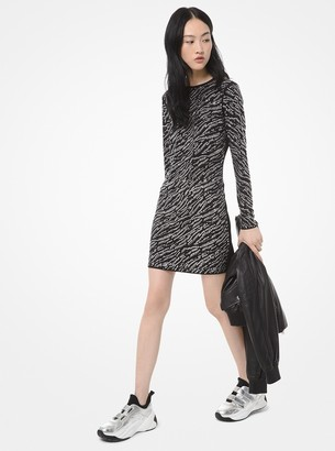 MICHAEL Michael Kors Tiger Studded Stretch Matte-Jersey Dress