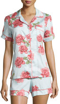 BedHead Vintage Rose-Print Short Pajama Set, Light Blue