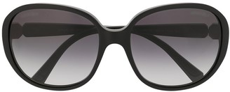 Chanel Pre Owned CC round-frame sunglasses