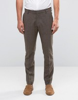 Selected Homme Slim Smart Trouser In Wool Mix