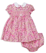 Little Me Girls' Smocked Liberty of London Floral Dress and Bloomer Set - Baby