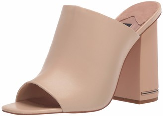 ZAC Zac Posen Women's Single Banded Slide on high Chunky Signature Heel Pump