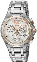 Technomarine Men's Quartz Watch with Silver Dial Chronograph Display and Silver Stainless Steel Bracelet TM-215014