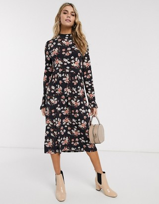 Miss Selfridge midi swing dress in floral print