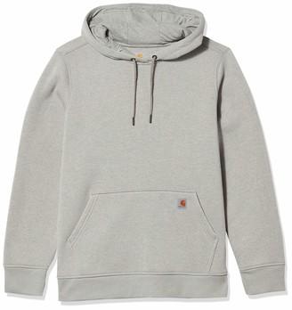 Carhartt womens-Clarksburg Pullover Sweatshirt (Regular and Plus Sizes) long_sleeve Hoody - gray - Medium