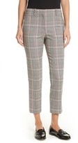 Theory Women's Treeca 2 Plaid Crop Trousers