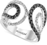 Effy Caviar By White and Black Diamond Ring (1 ct. t.w.) in 14k White Gold