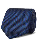 Tom Ford 8cm Woven Silk Tie - Blue