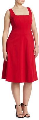 Marina Rinaldi, Plus Size Stitched Cotton Dress
