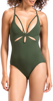 Robin Piccone Ava Braided Strap One Piece
