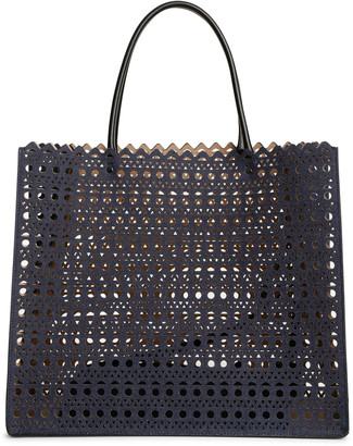 Alaia Garance 16 denim tote bag