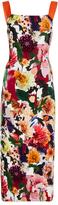 Cushnie et Ochs Rosalinda Floral Collage Dress