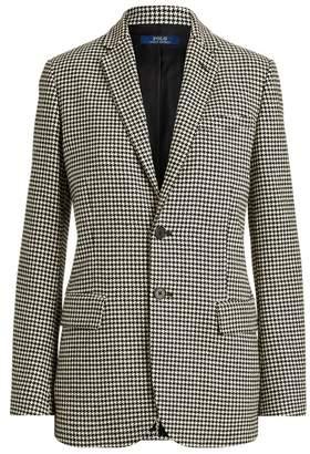Ralph Lauren Houndstooth Wool-Blend Blazer