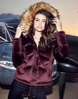 Lipsy Velvet Puffer Jacket