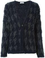 Brunello Cucinelli houndstooth pattern cardigan - women - Polyamide/Cashmere - XS