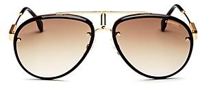 Carrera Men's Retro Brow Bar Aviator Sunglasses, 68mm