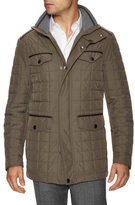 Canali Hooded Square Quilted Puffer Jacket