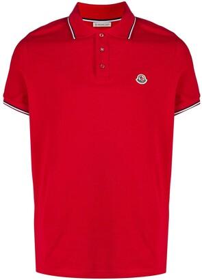 Moncler Logo Patch Cotton Polo Shirt