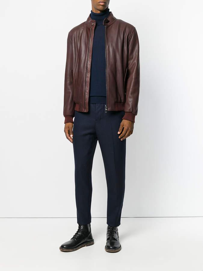 Z Zegna zip-up bomber jacket