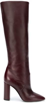 Saint Laurent Pull-On Knee-Length Boots